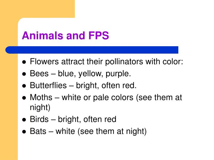 Animals and FPS
