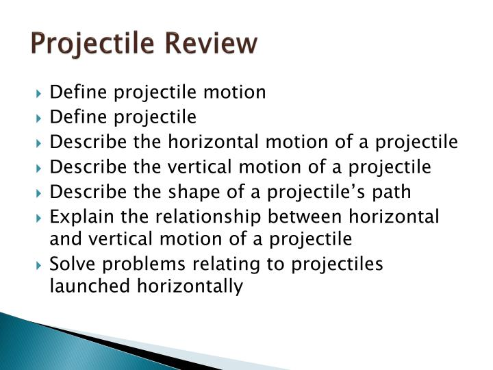 Literature review for projectile motion