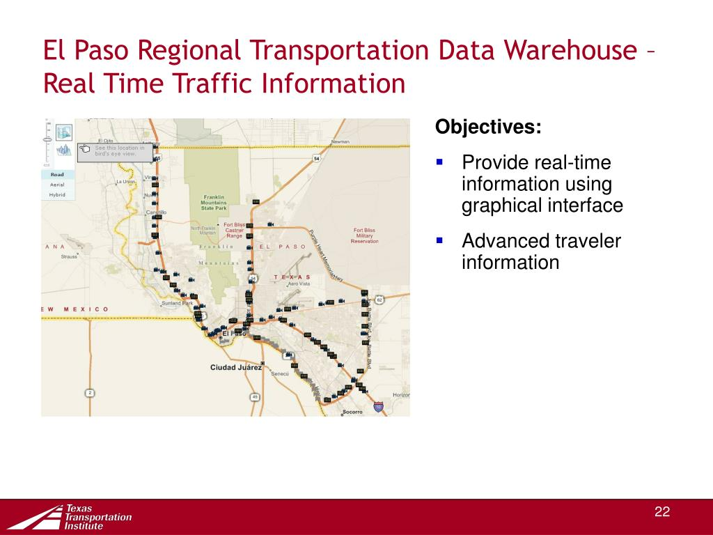 El Paso Regional Transportation Data Warehouse –