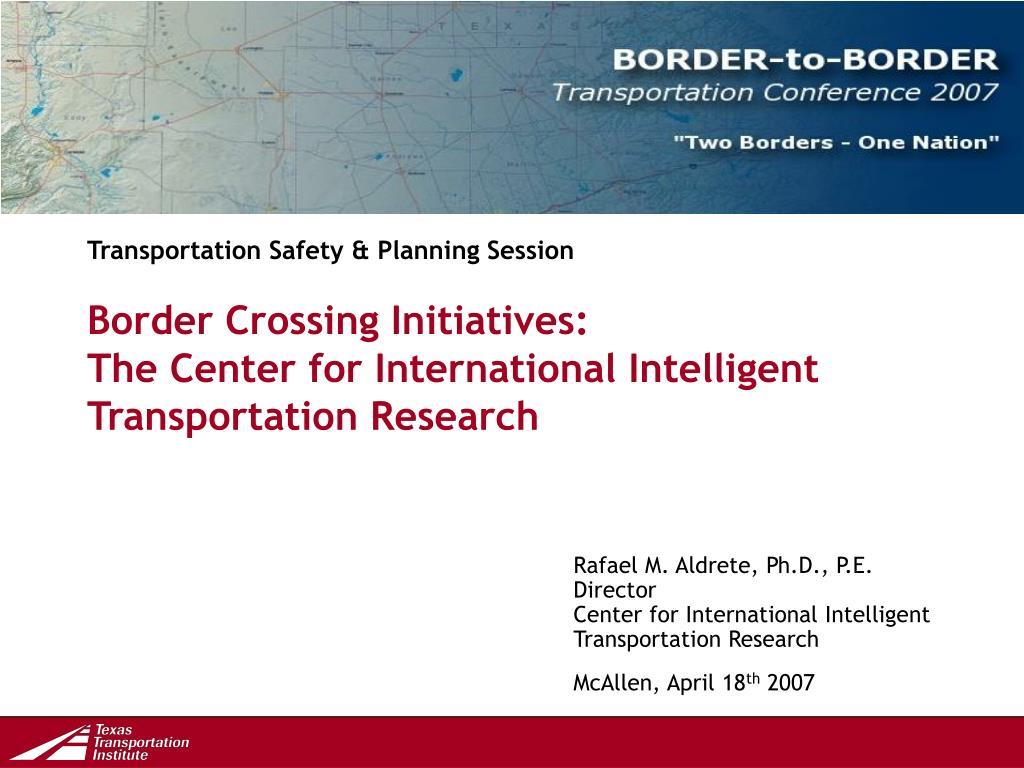 Transportation Safety & Planning Session