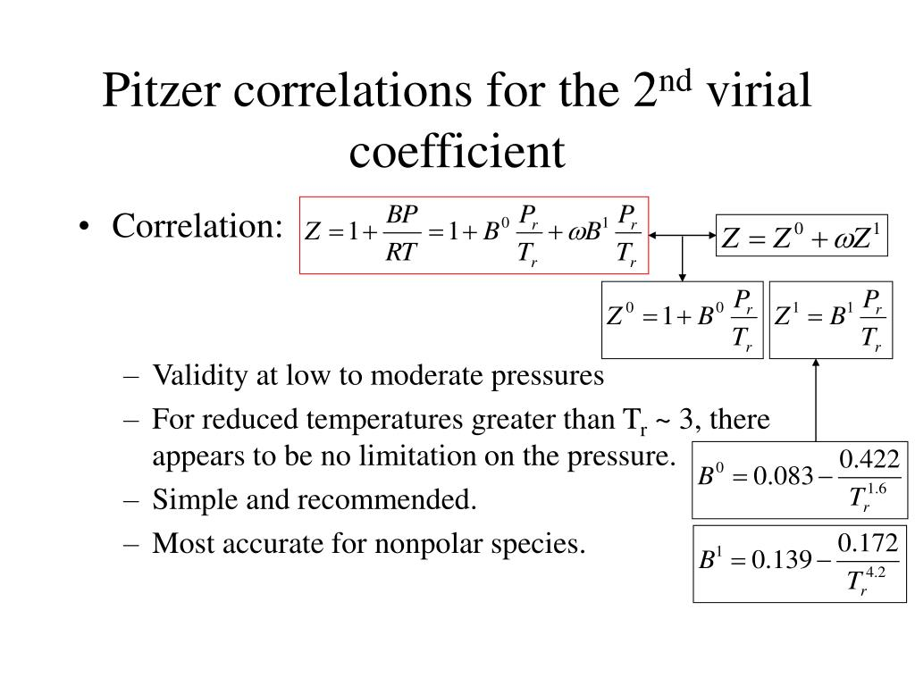 Pitzer correlations for the 2