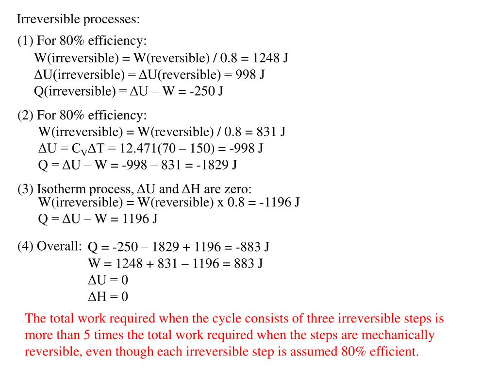Irreversible processes: