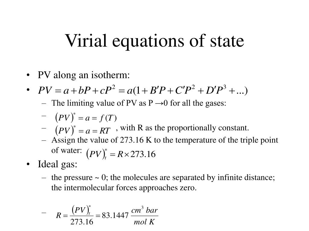 Virial equations of state