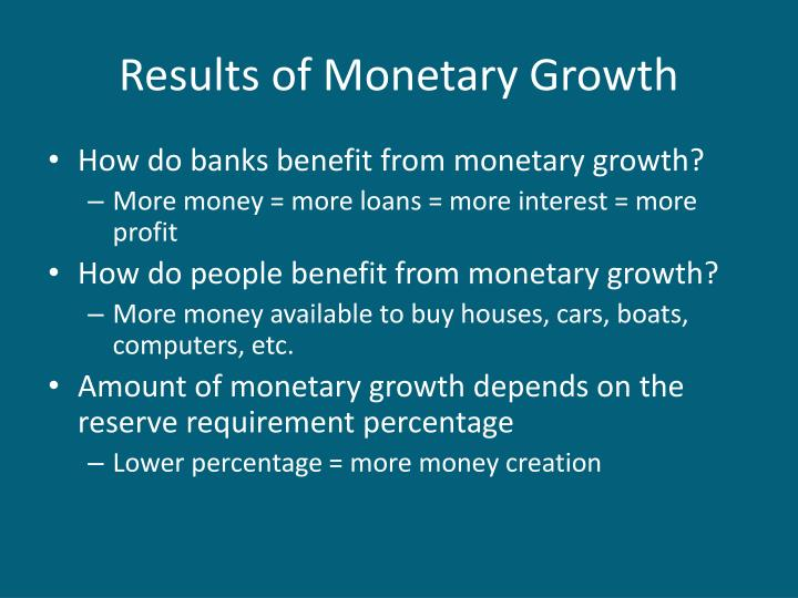 Results of Monetary Growth