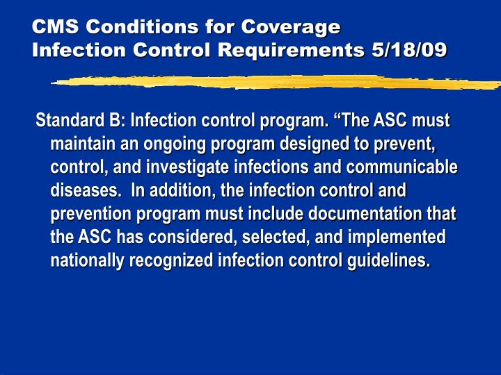 CMS Conditions for Coverage