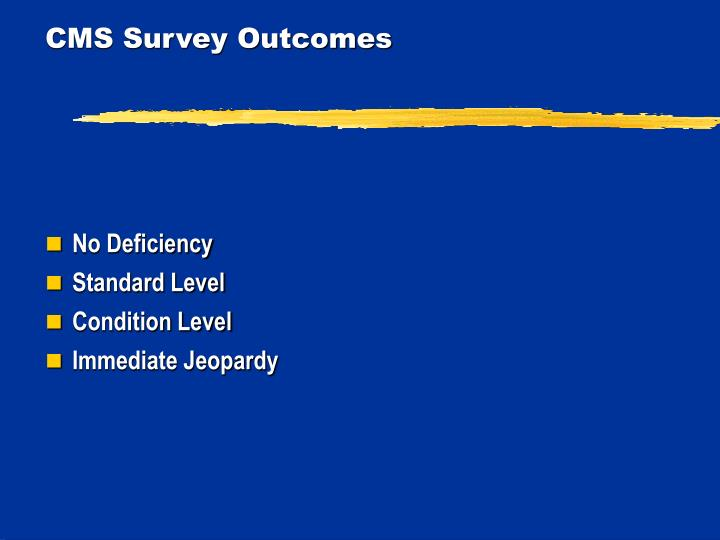 CMS Survey Outcomes