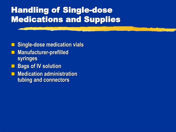 Single-dose medication vials