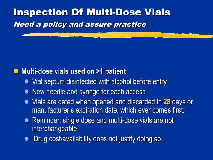 Inspection Of Multi-Dose Vials