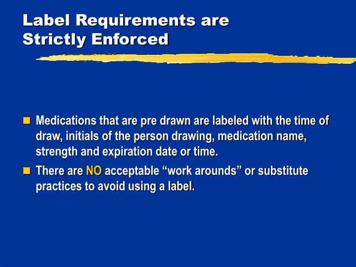 Label Requirements are