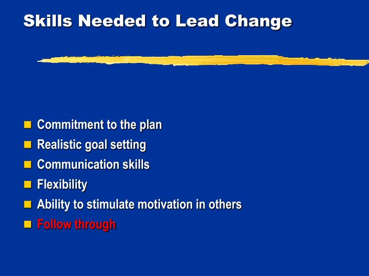 Skills Needed to Lead Change