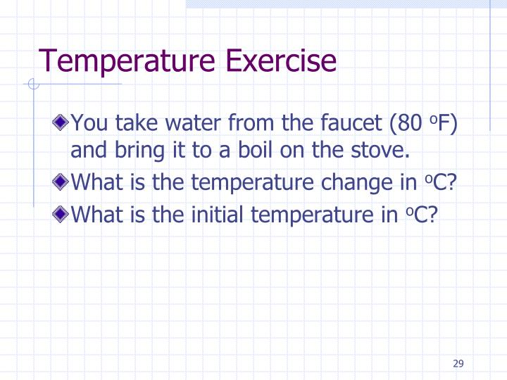 Temperature Exercise