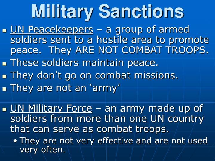 Military Sanctions