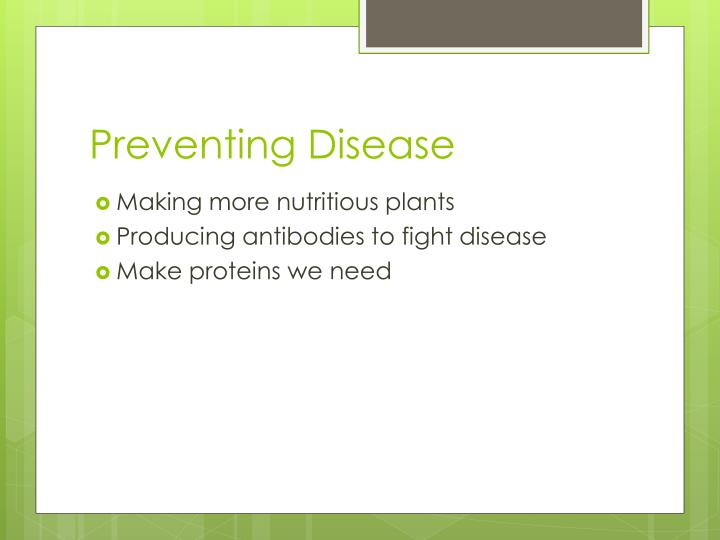 Preventing Disease