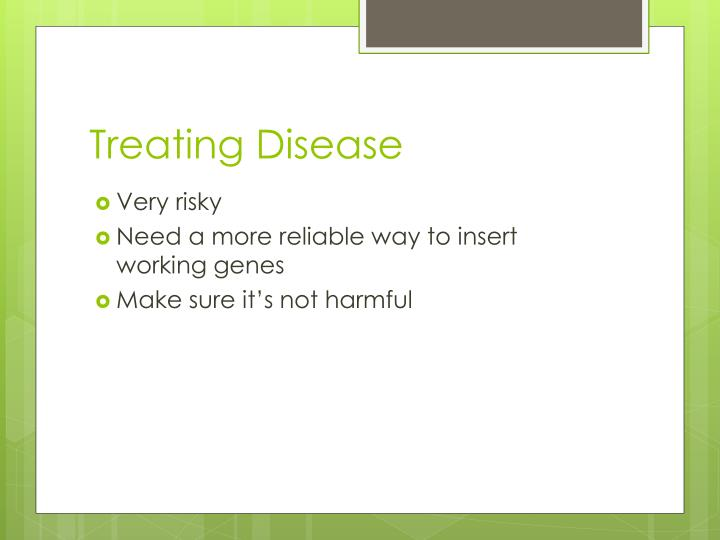 Treating Disease