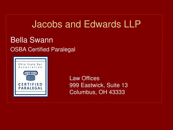 Jacobs and Edwards LLP