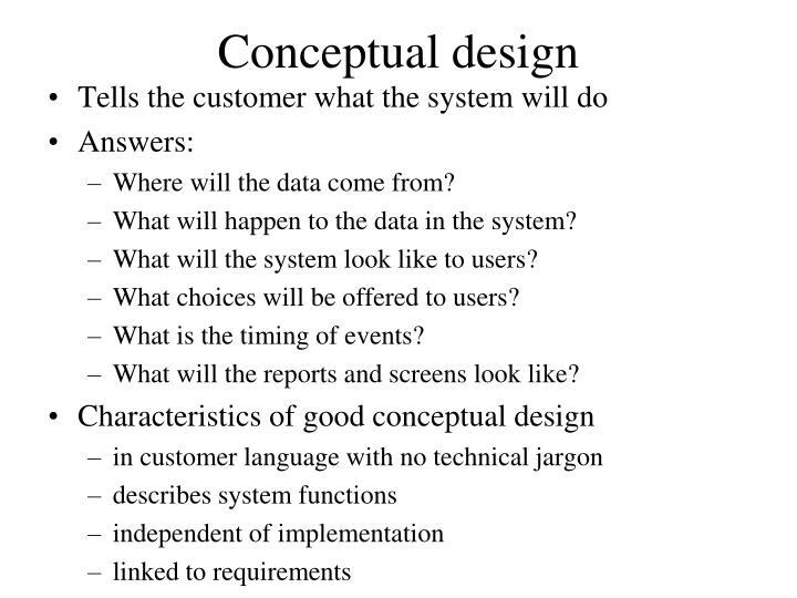 how to write a conceptual design document