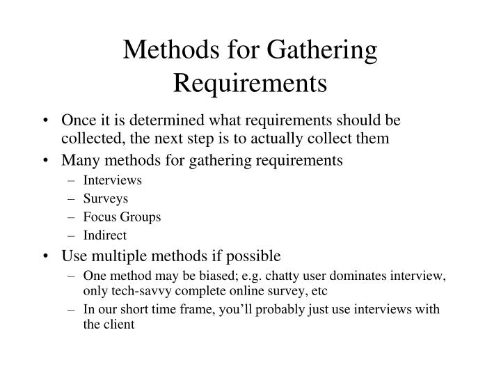 Systems Gathering Requirements Document Essay Sample