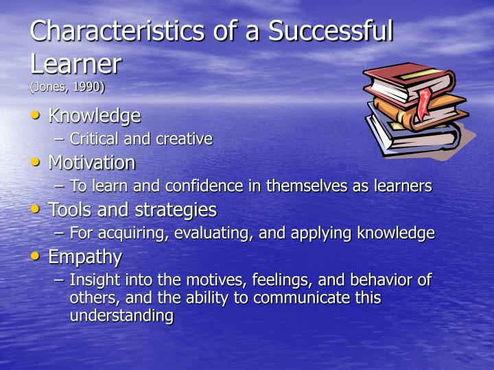 Characteristics of a Successful Learner