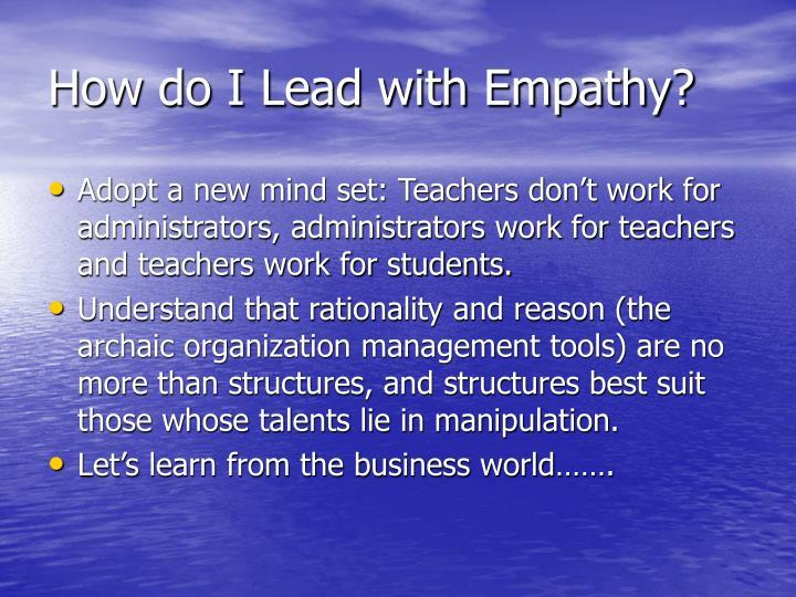 How do I Lead with Empathy?