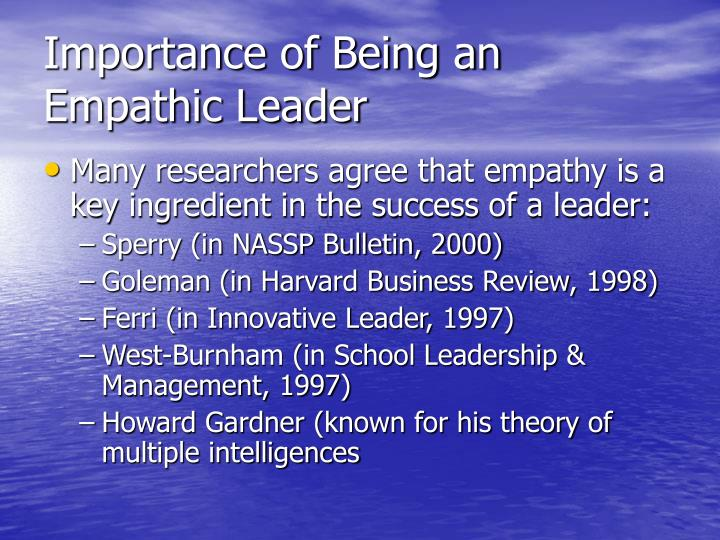 Importance of Being an Empathic Leader