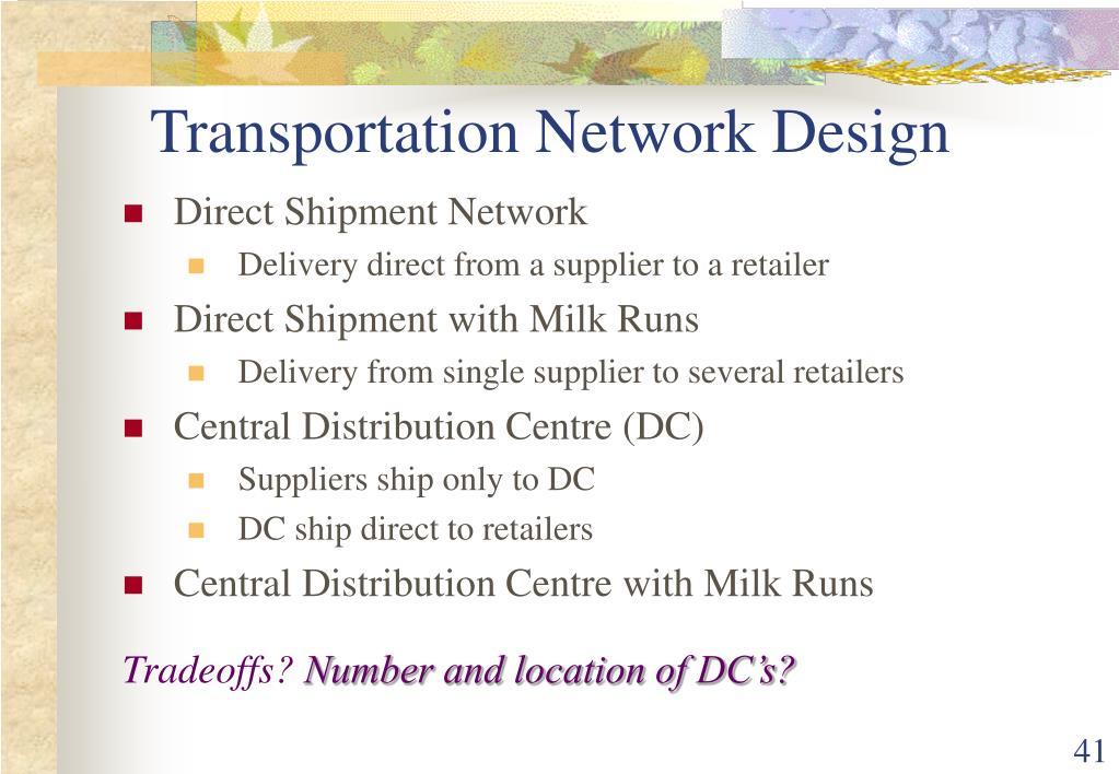 Transportation Network Design