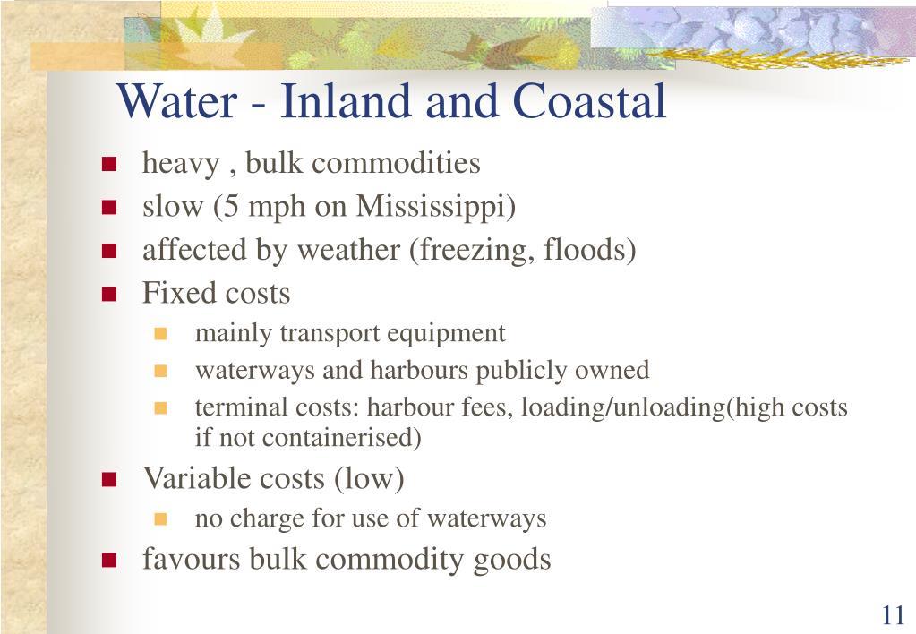 Water - Inland and Coastal