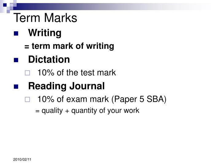 Term Marks