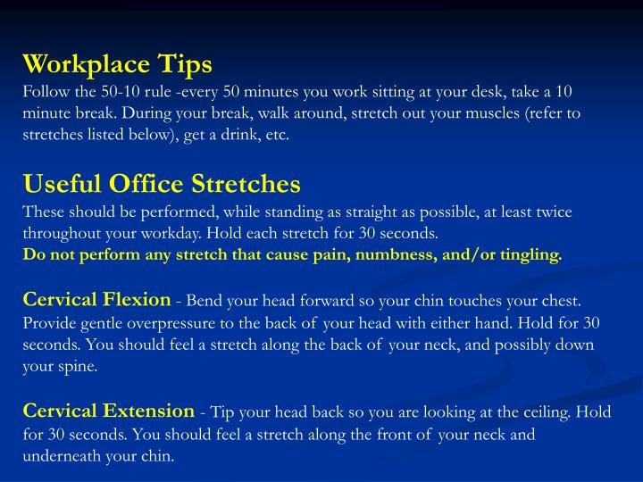 Workplace Tips