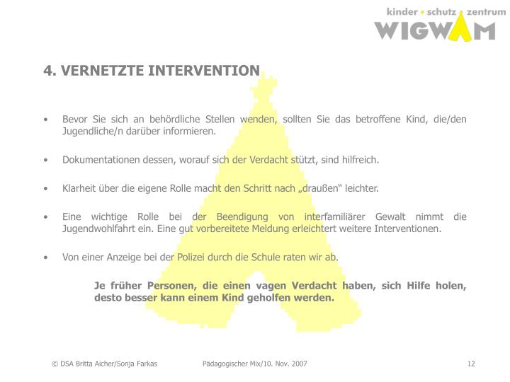 4. VERNETZTE INTERVENTION