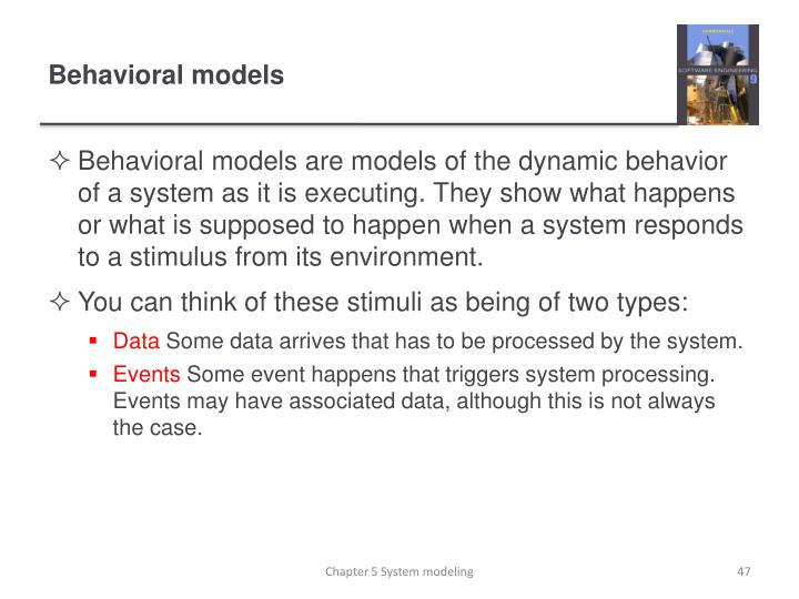 Behavioral models