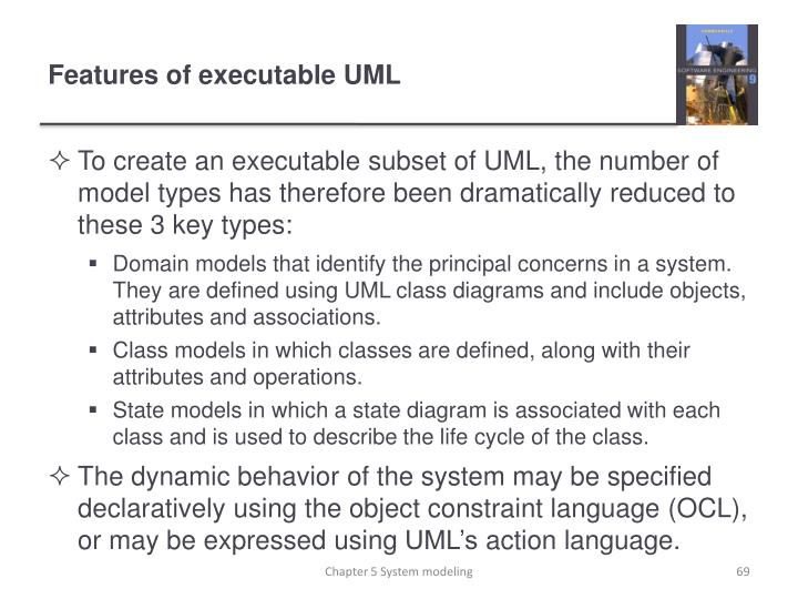 Features of executable UML