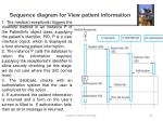 sequence diagram for view patient information1