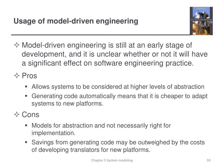 Usage of model-driven engineering