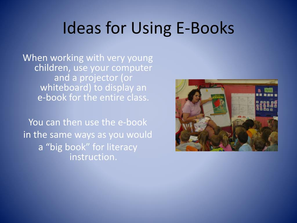 Ideas for Using E-Books