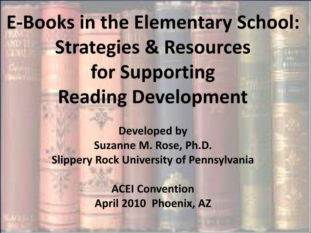 E-Books in the Elementary School: