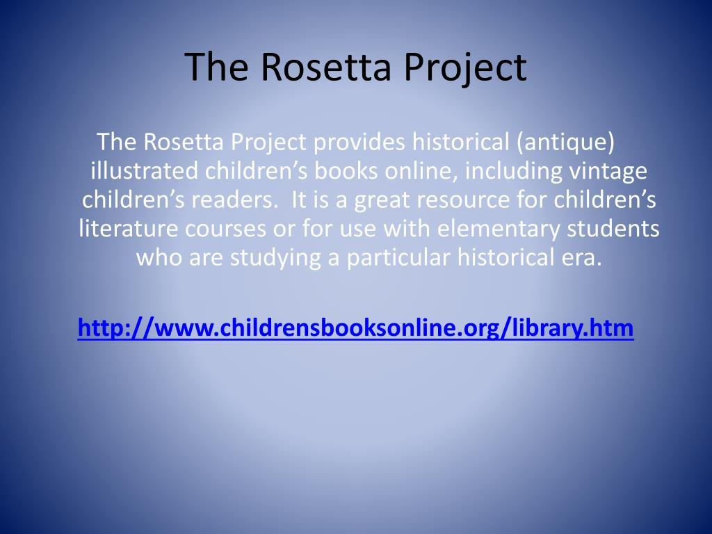 The Rosetta Project