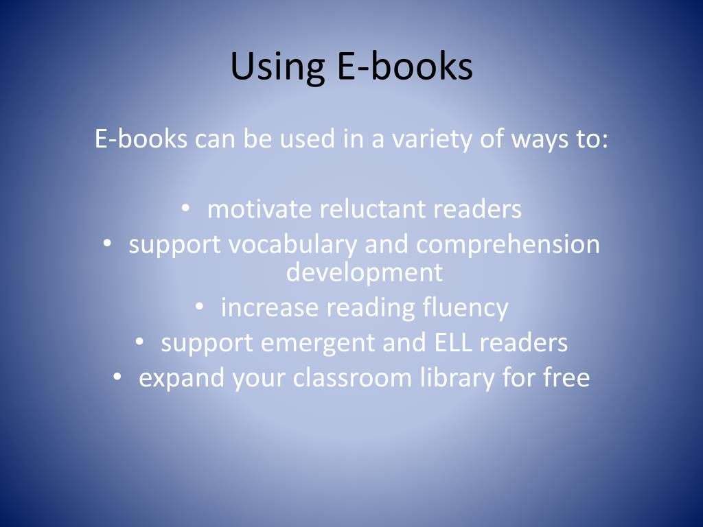 Using E-books