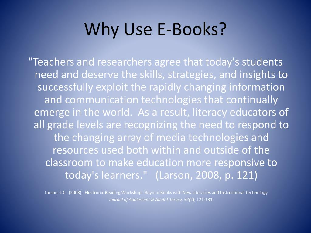 Why Use E-Books?