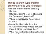 things to know you find the answers or not you re choice
