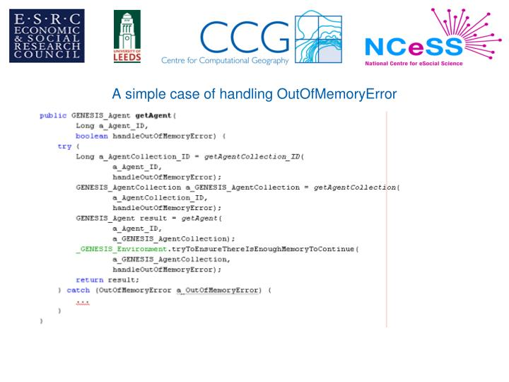 A simple case of handling OutOfMemoryError