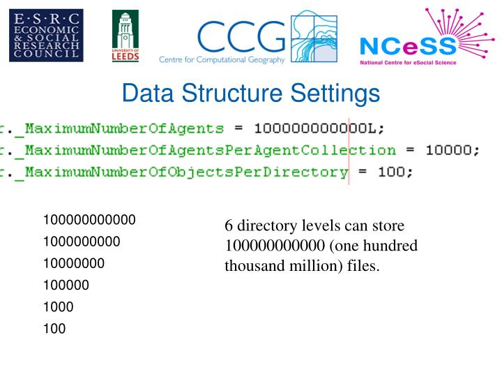 Data Structure Settings