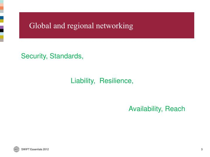Global and regional networking
