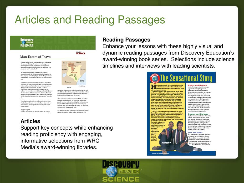 Articles and Reading Passages