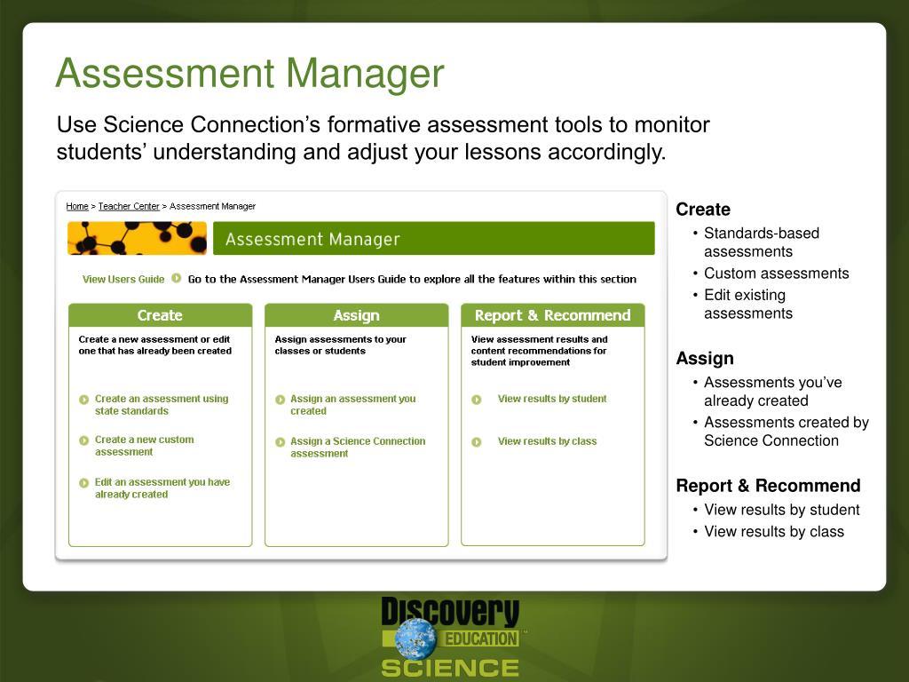 Assessment Manager