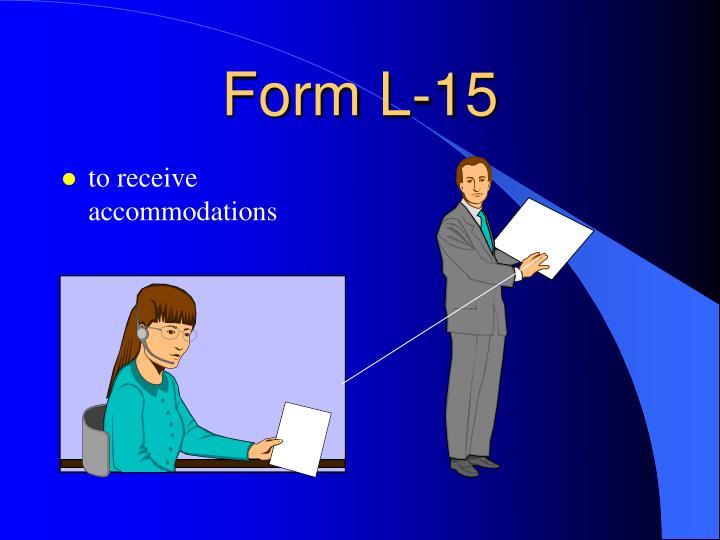 Form L-15