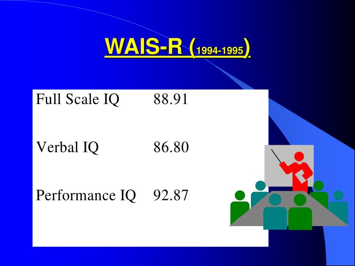WAIS-R (