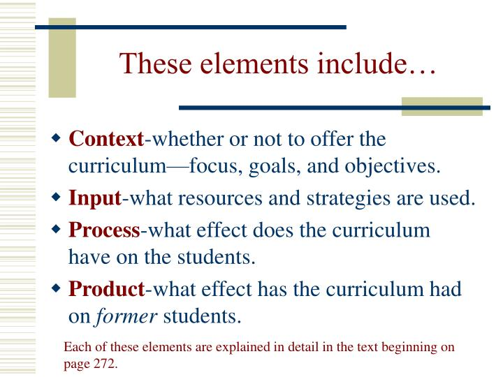 These elements include…