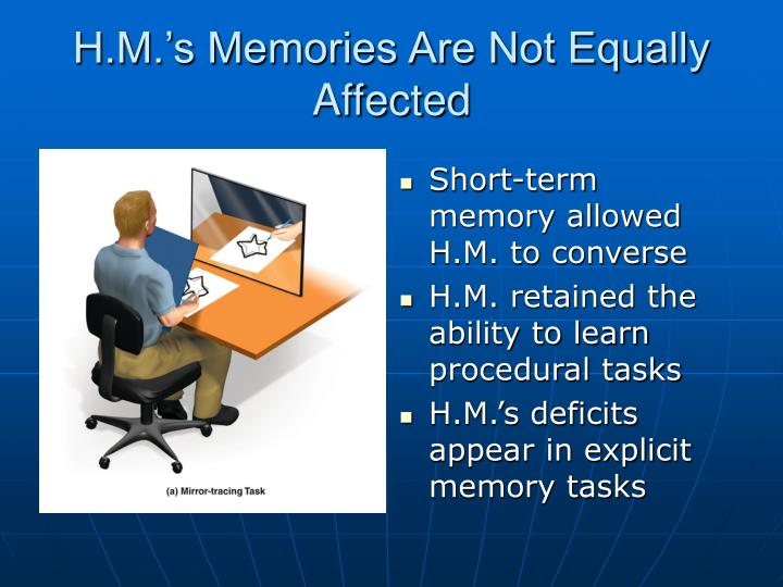 H.M.'s Memories Are Not Equally Affected
