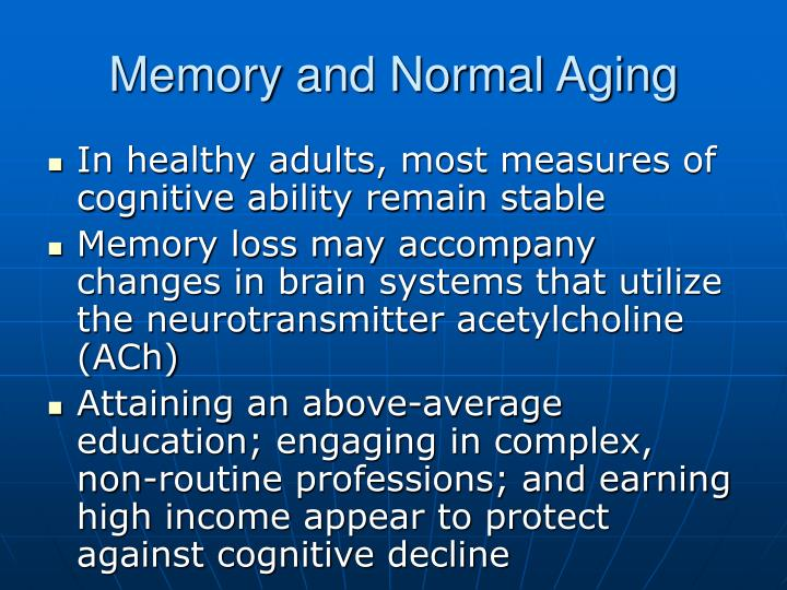Memory and Normal Aging