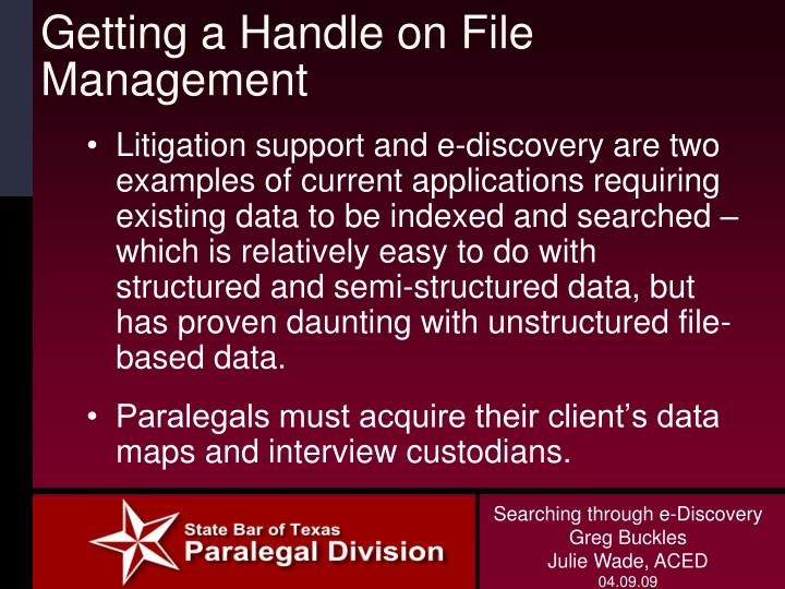 Getting a Handle on File Management